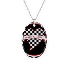 I Love Race Cars Necklace