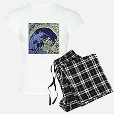 Hokusai Feminine Wave Pajamas