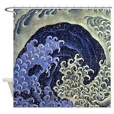 Hokusai Feminine Wave Shower Curtain