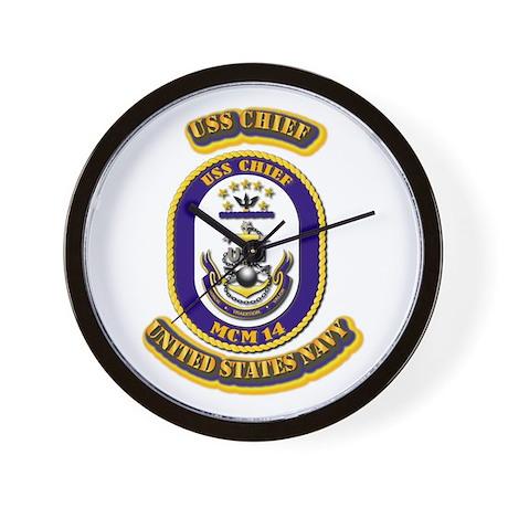 US - NAVY - USS Chief - MCM 14 Wall Clock