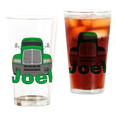 Trucker Joel Drinking Glass