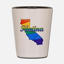 Platina, California. Gay Pride Shot Glass