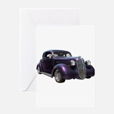 1937 Plymouth P3 Business Cou Greeting Card