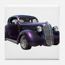 1937 Plymouth P3 Business Cou Tile Coaster