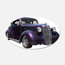 1937 Plymouth P3 Business Cou 22x14 Oval Wall Peel