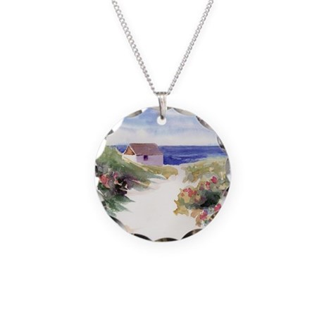 Summer In Nantucket Necklace Circle Charm