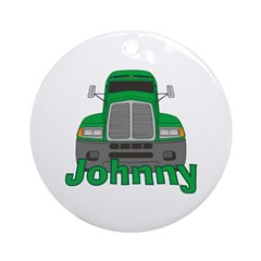 Trucker Johnny Ornament (Round)