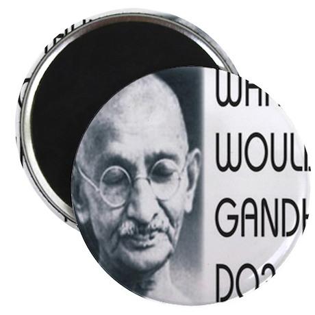 """Gandhi (WWGD) 2.25"""" Magnet (100 pack)"""