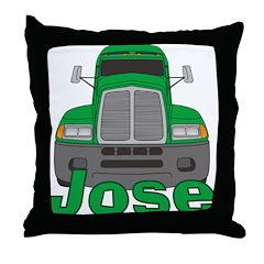 Trucker Jose Throw Pillow