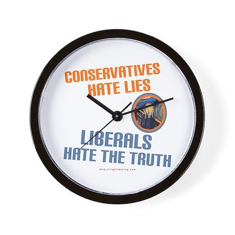 Conservative vs Liberal Wall Clock