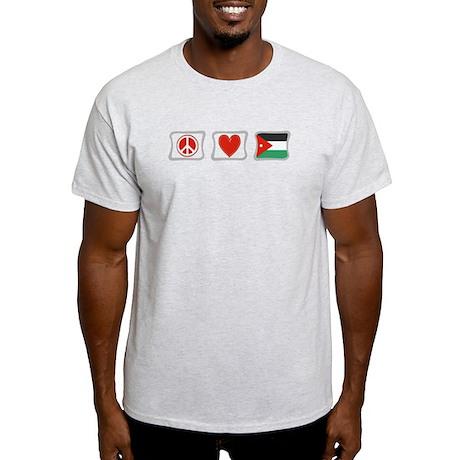 Peace, Love and Jordan Light T-Shirt