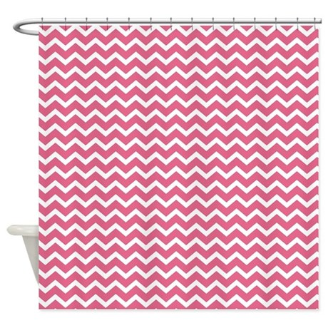 Pink Chevrons Shower Curtain