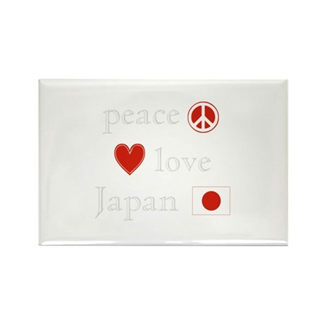Peace, Love and Japan Rectangle Magnet