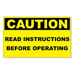 Caution Read Instructions Before