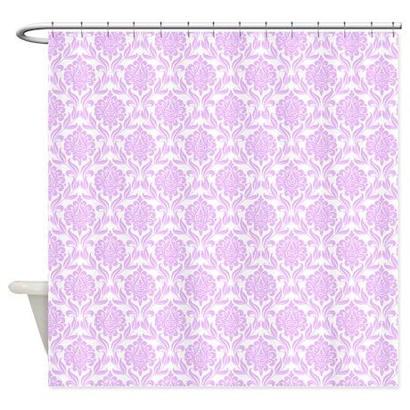 Lilac Damask Pattern Shower Curtain