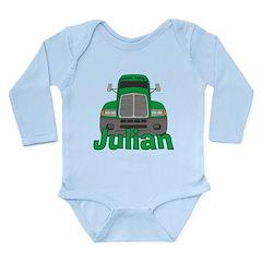 Trucker Julian Long Sleeve Infant Bodysuit