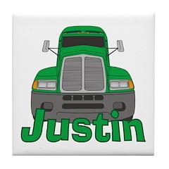 Trucker Justin Tile Coaster