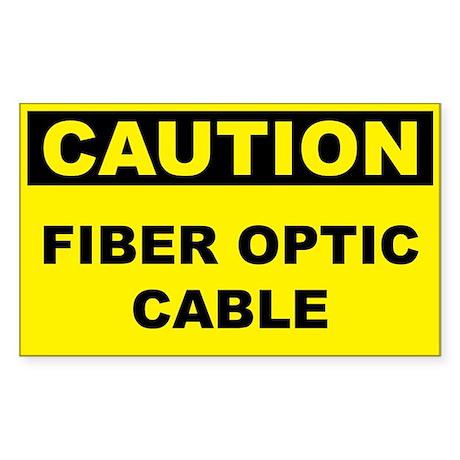 Caution Fiber Optic Cable