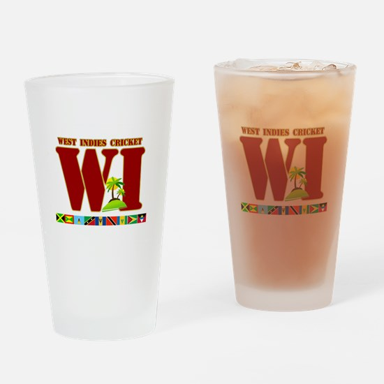 West Indies Cricket Drinking Glass
