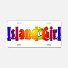 Island Girl Aluminum License Plate