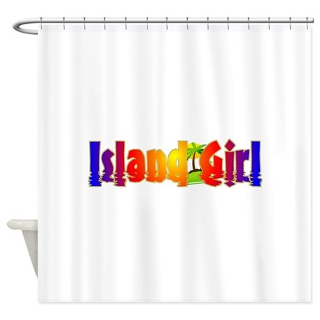 island girl shower curtain by wiqt