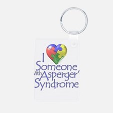 Asperger's Syndrome Aluminum Photo Keychain