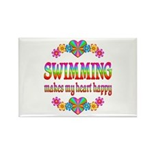 Swimming Happy Rectangle Magnet