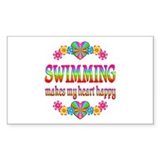 Swimming Happy Decal