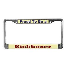 Hug a Kickboxer License Plate Frame