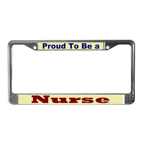 Hug a Nurse License Plate Frame