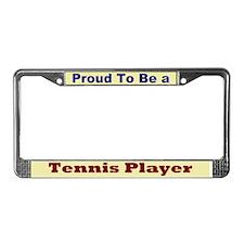 Hug a Tennis Player License Plate Frame