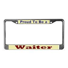 Hug a Waiter License Plate Frame