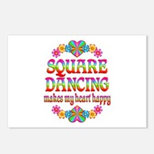 Square Dancing Happy Postcards (Package of 8)