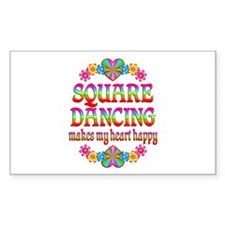 Square Dancing Happy Decal