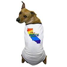 Rice, California. Gay Pride Dog T-Shirt