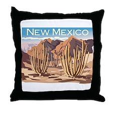 New Mexico Desert Throw Pillow
