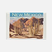 New Mexico Desert Rectangle Magnet