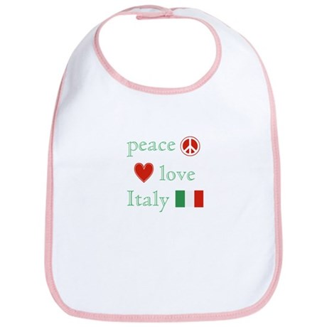 Peace, Love and Italy Bib