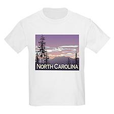 North Carolina Mountains Kids T-Shirt