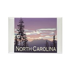 North Carolina Mountains Rectangle Magnet