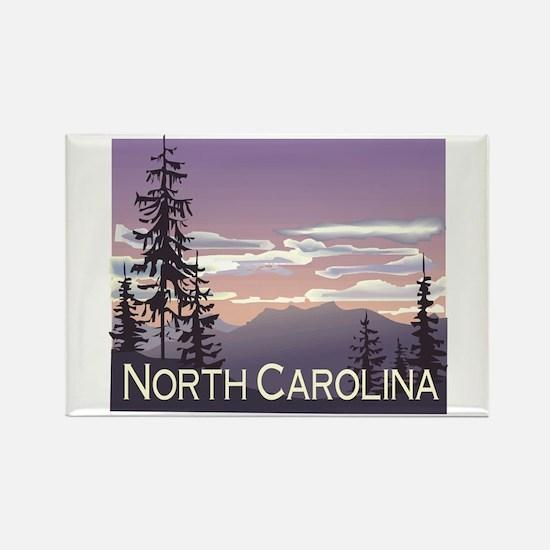 North Carolina Mountains Rectangle Magnet