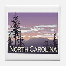 North Carolina Mountains Tile Coaster