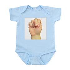 ASL Letter N Infant Creeper