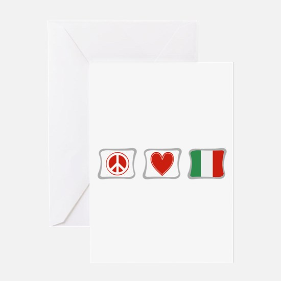 Peace, Love and Italy Greeting Card