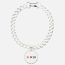 Peace, Love and Italy Charm Bracelet, One Charm