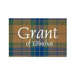 Tartan - Grant of Edinchat Rectangle Magnet (100 p