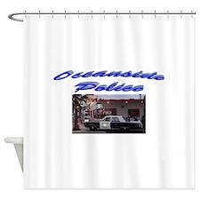 Oceanside Police Car Shower Curtain