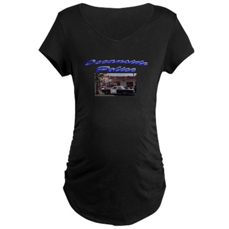 Oceanside Police Car Maternity Dark T-Shirt