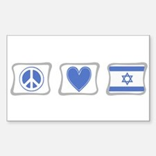 Peace, Love and Israel Decal