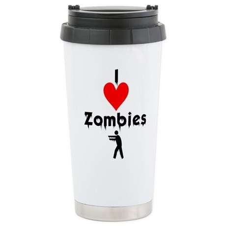 I Love Zombies Stainless Steel Travel Mug